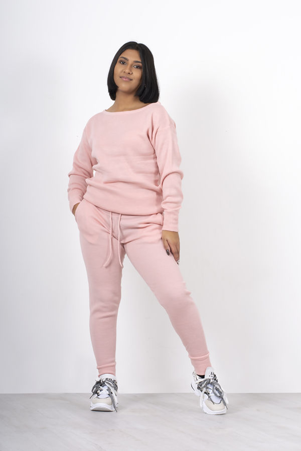 Pink Lounge Wear Knitted Set