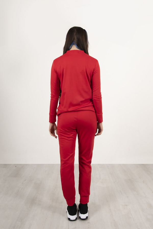 Red Boss Lady Customized Tracksuit