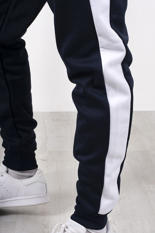 Navy Two Tone Zip Through Funnel Tracksuit