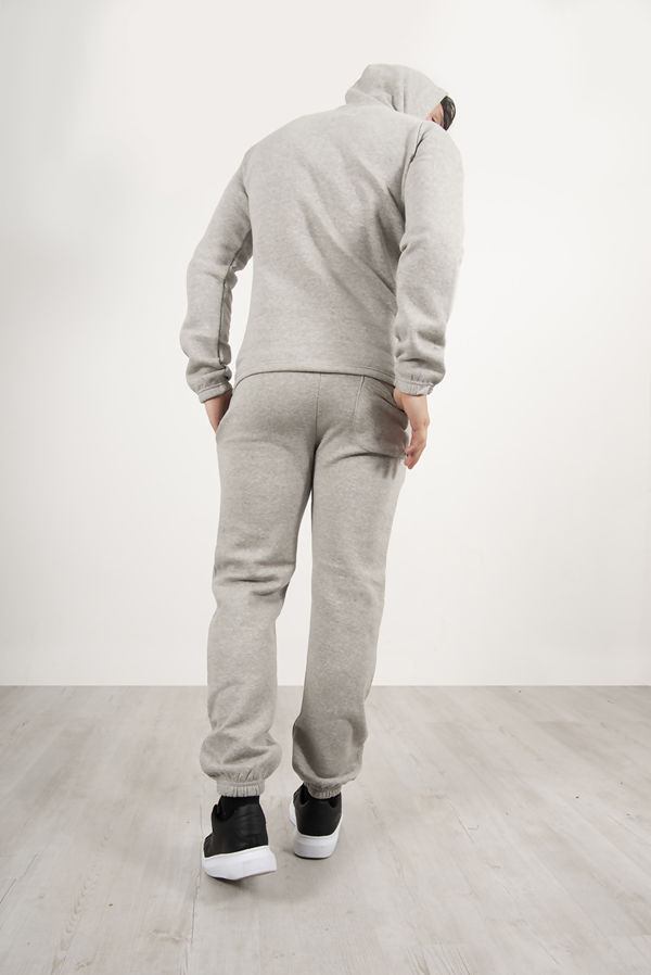 Grey Pullover Hooded Tracksuit