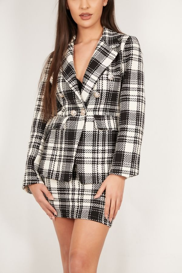 Tweed Blazer and Skirt Co-Ord Set