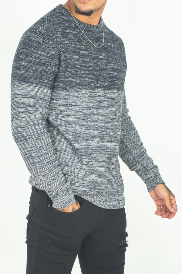 Two Tone Space Dye Jumper