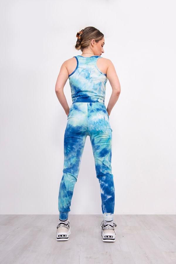 Tie Dye Side Stripe Jogging Bottom Set