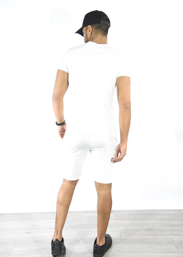 White Tiger Logo Shorts and Tee Set