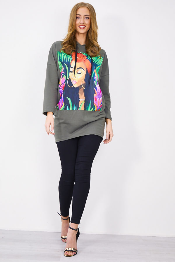 Tropical Girl Printed Jumper Dress