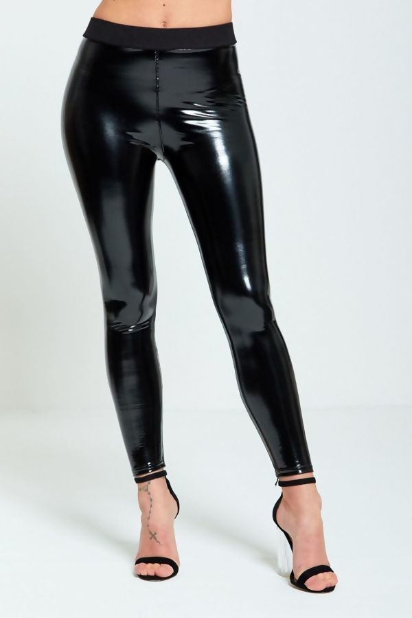 pre order perfect quality moderate price Vinyl Wet Look Black Skinny Legging