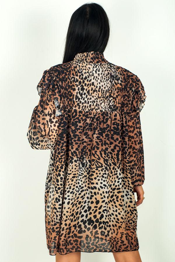 Victorian Leopard Print Dress