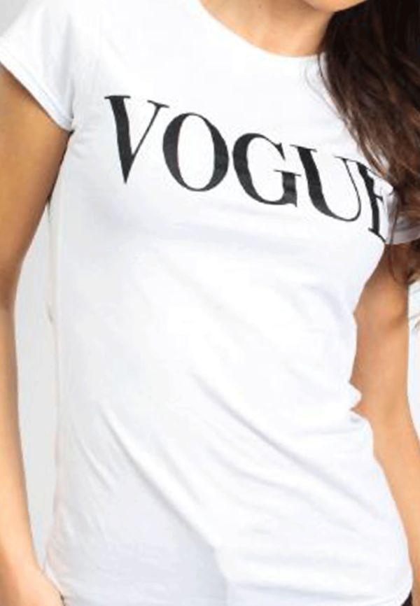 Black Vogue Tee Top