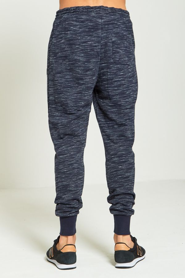 Navy Space Dye Jogging Bottom