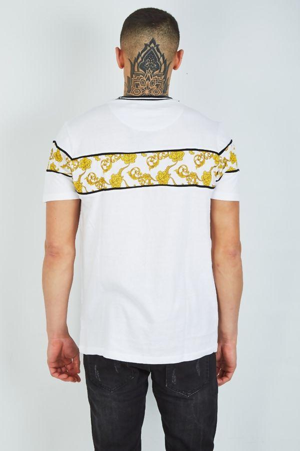 White Baroque Print T-Shirt