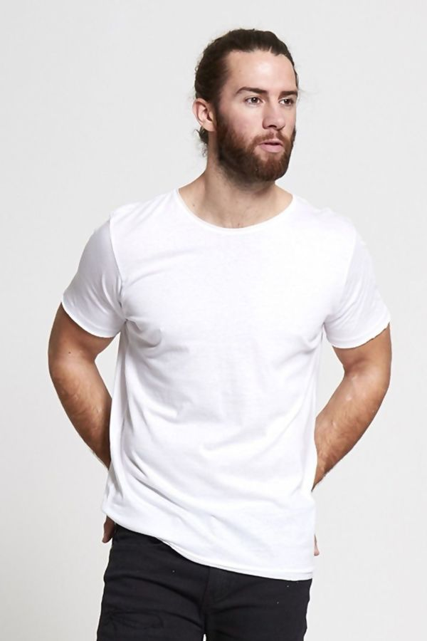 White Basic Loose Fit T-Shirt