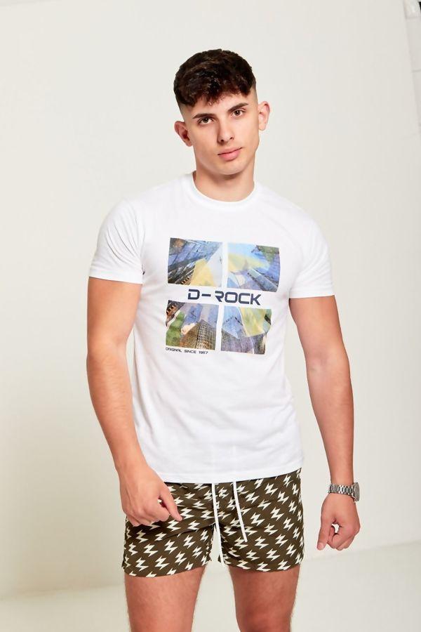 White D-Rock Customized T-shirt