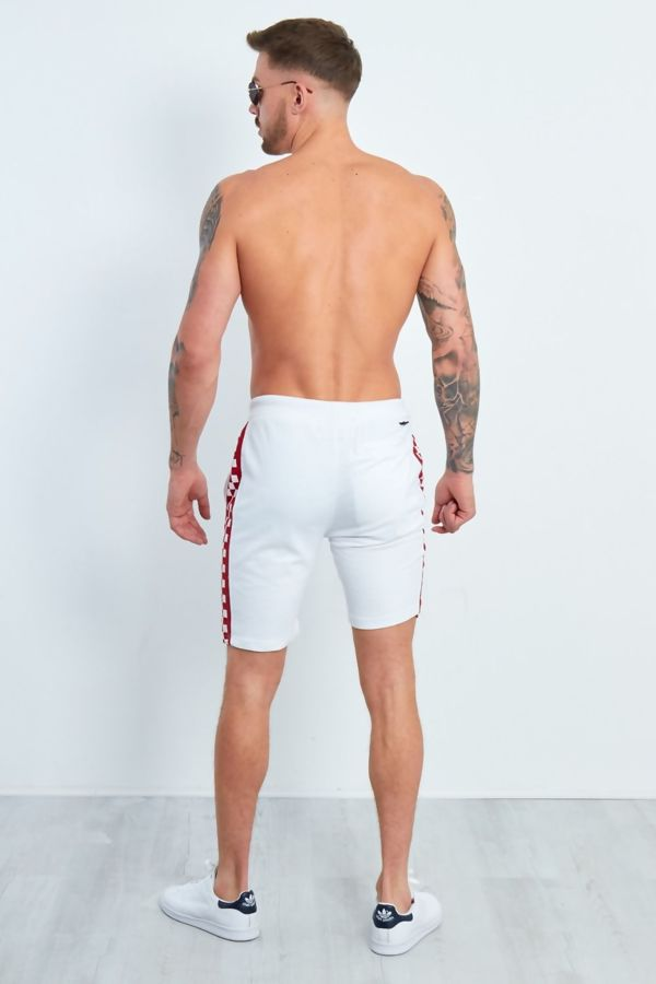 White Dominion Panel Jersey Shorts