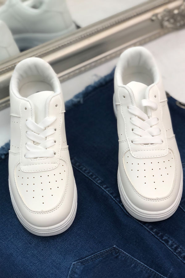 White Hip Trainers