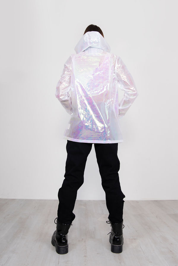 White Holographic Festival Mac