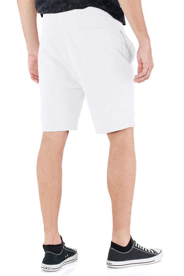 White Jersey Sweat Shorts