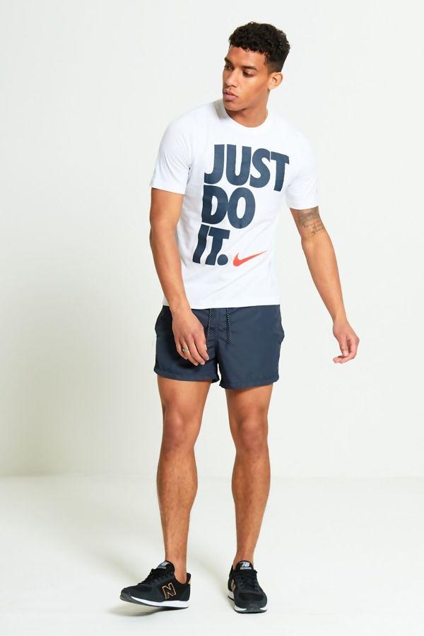 White Just Do It Slogan T-Shirt