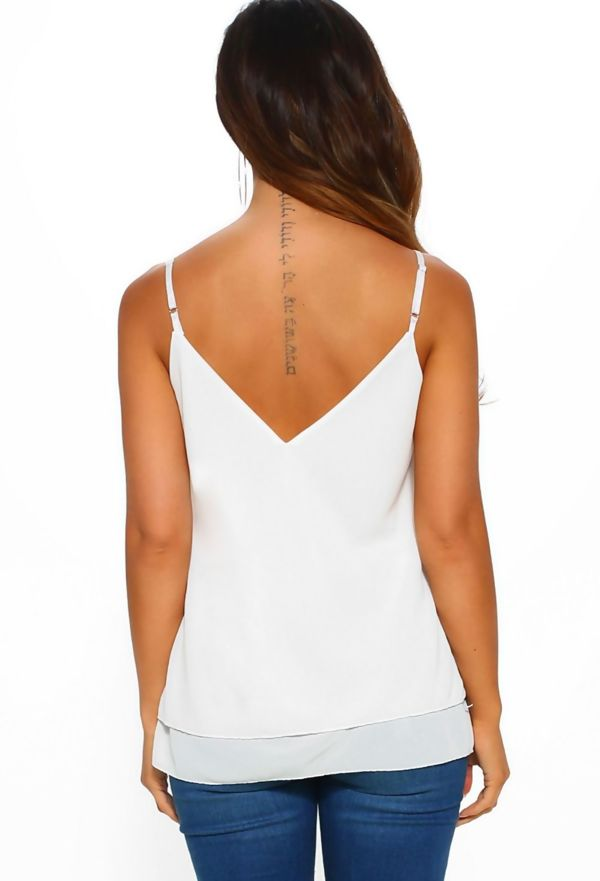 White Lace Cami Top