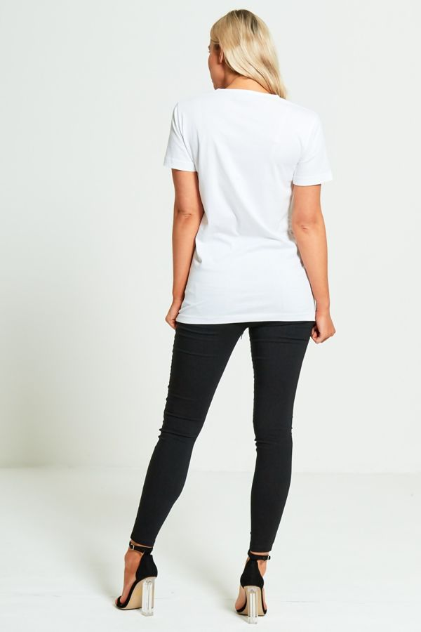 White Lips Tee Top
