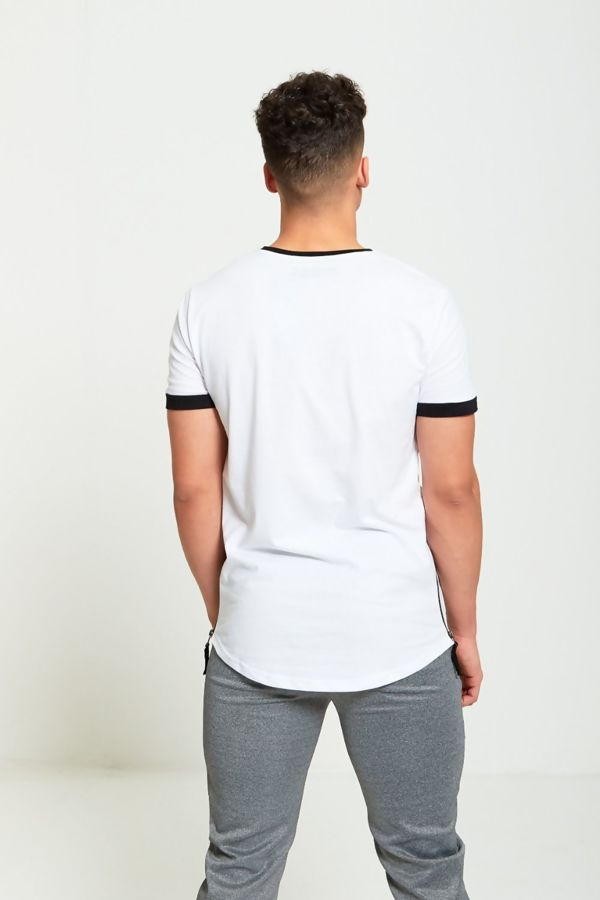 White Mesh Panel D-Rock T-Shirt