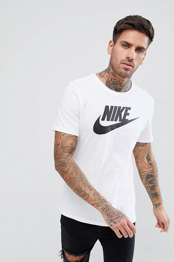 White Nike Futura Icon T-Shirt