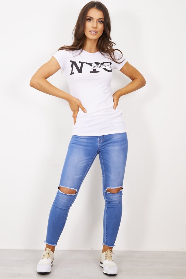 Red NYC Brooklyn T-Shirt Top