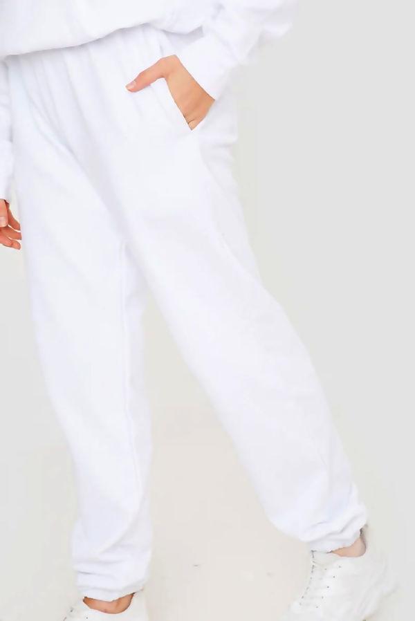 White Oversized Joggers