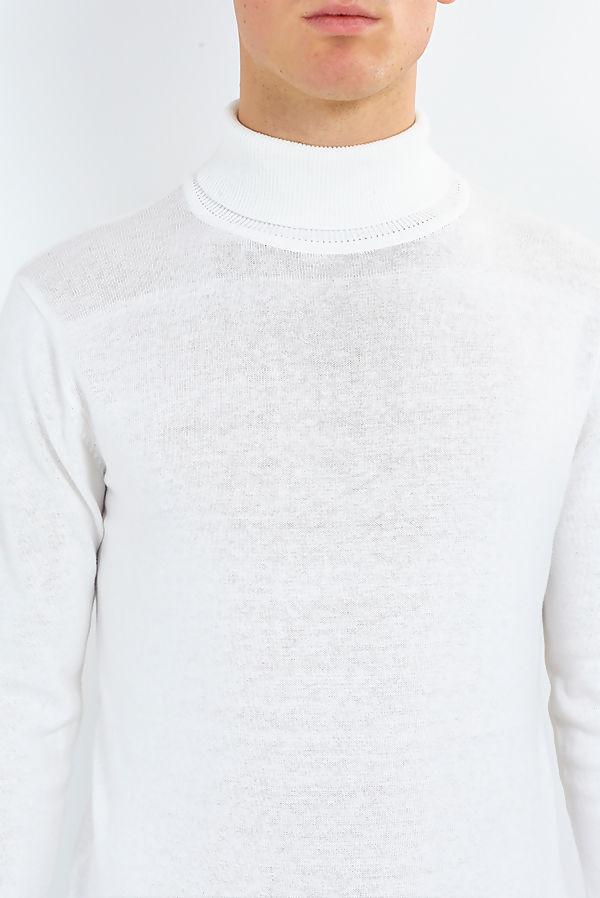 White Polo Neck Jumper