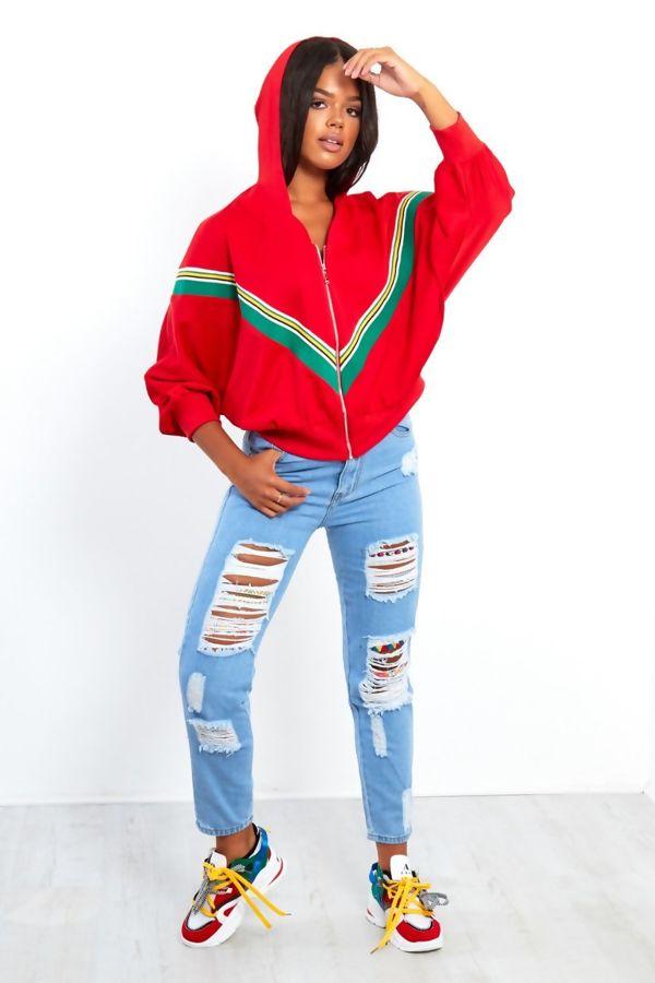 White Poncho Sleeve Hooded Jacket