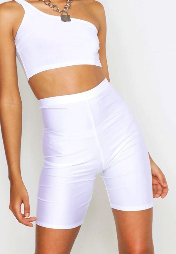 White Slinky Cycling Shorts