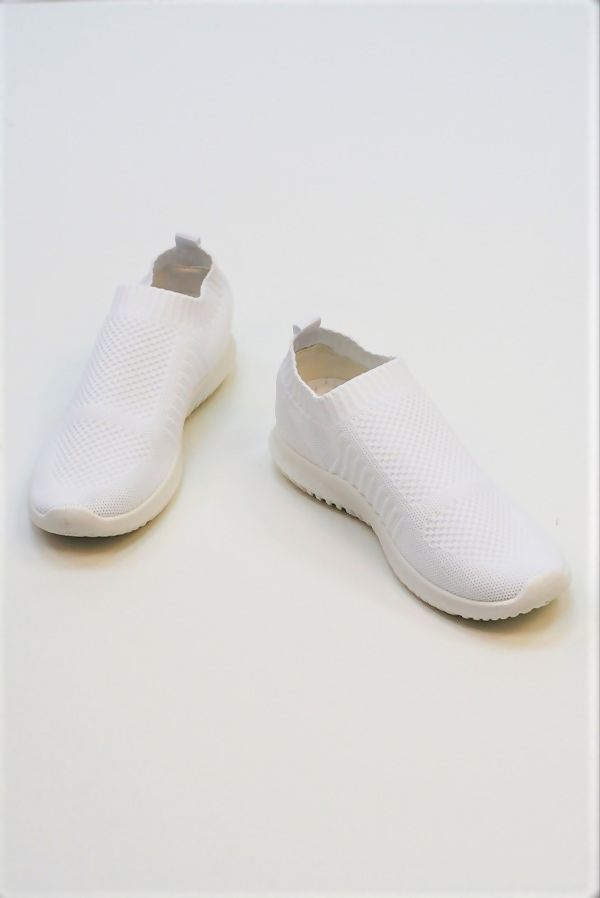 White Slip On Chunky Sole Trainers