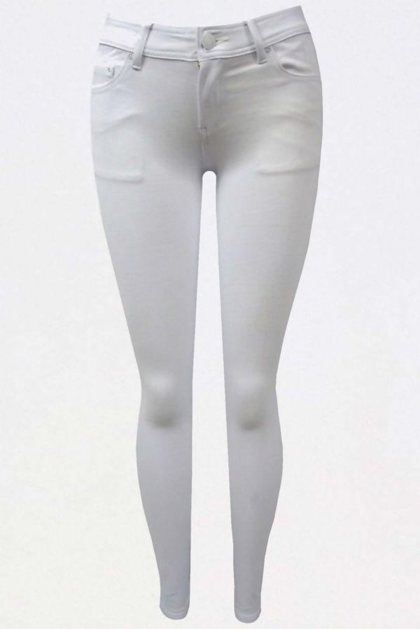 White Stretch Slim Fit Skinny Jegging