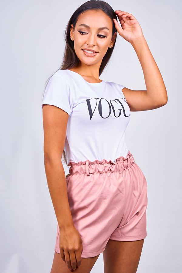 White Vogue Tee Top