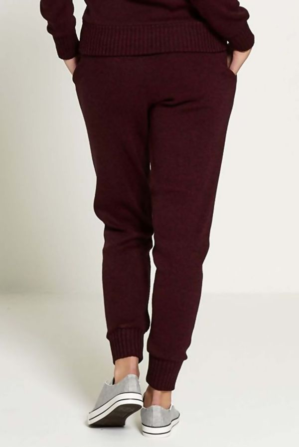 Wine Fine Knitted Loungewear Bottom