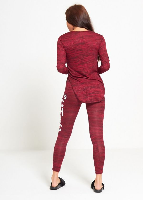 Wine NO9 Chic Tracksuit