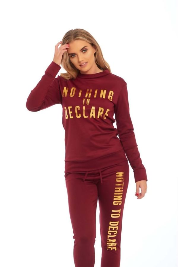 Wine Nothing To Declare Customized Tracksuit