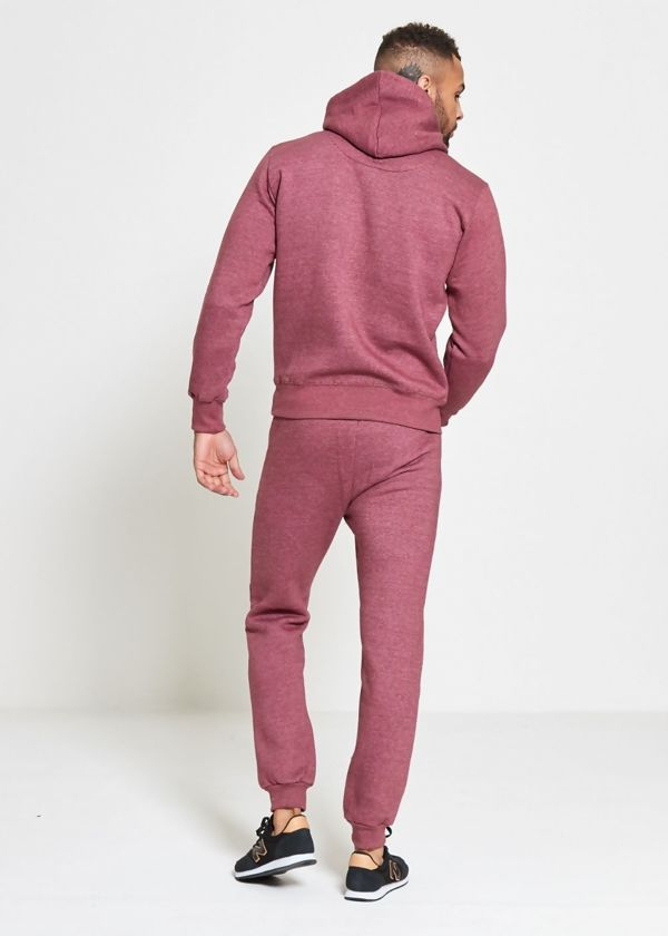 Wine Skinny Fit Pullover Tracksuit
