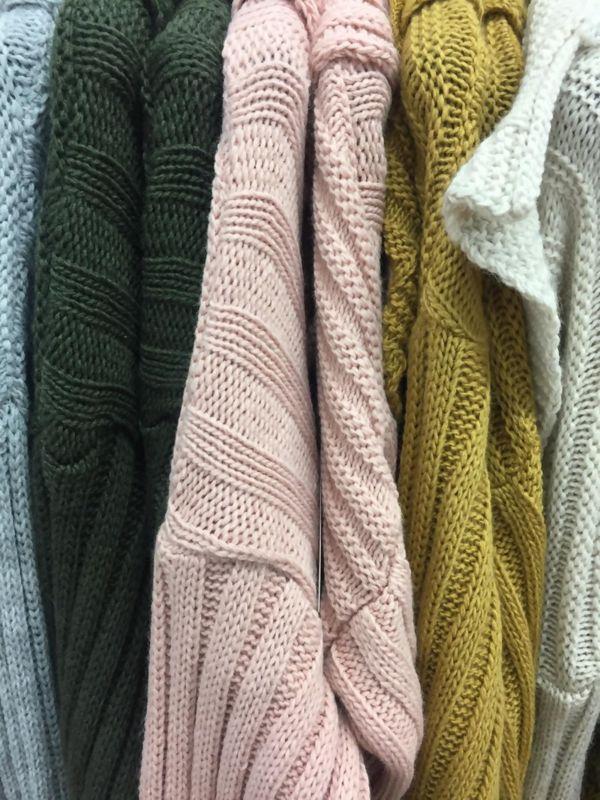 Pom Hood Knitted Cardigan