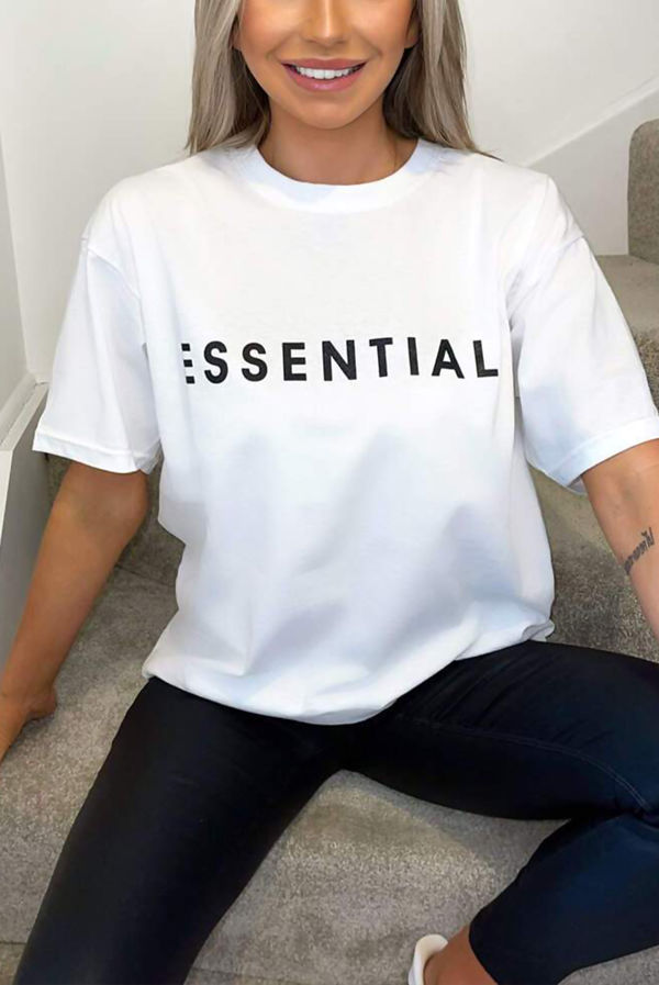 White ESSENTIAL Oversized Tee