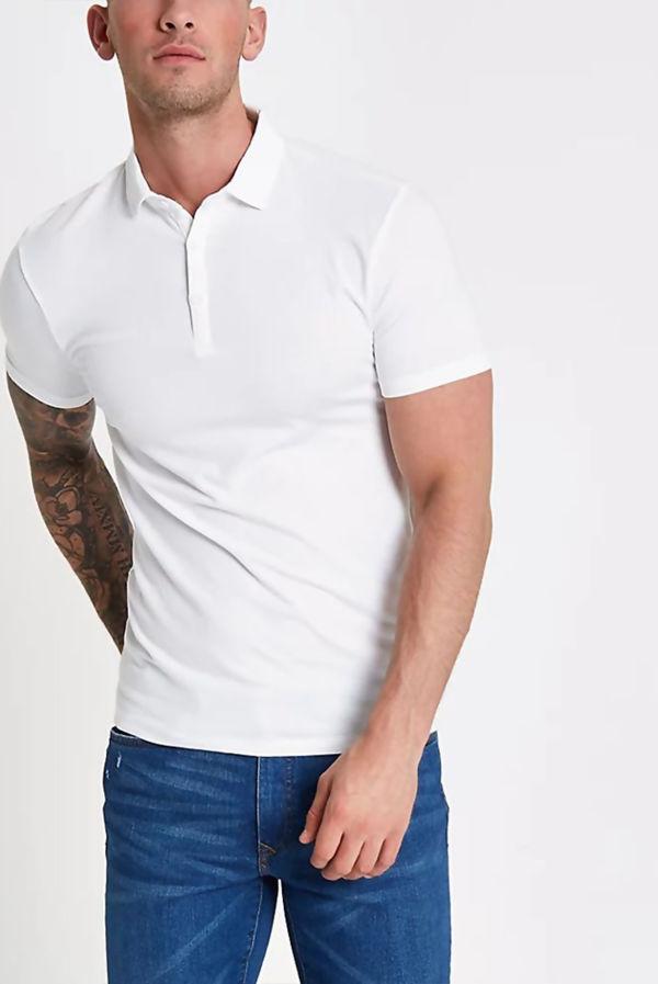 White Essential Polo Shirt