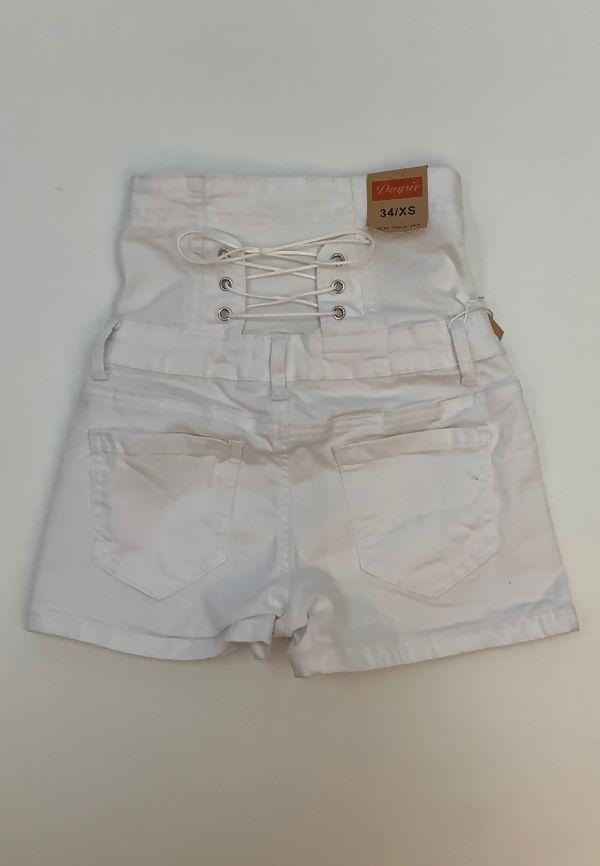 Black High Waist Button Up Shorts