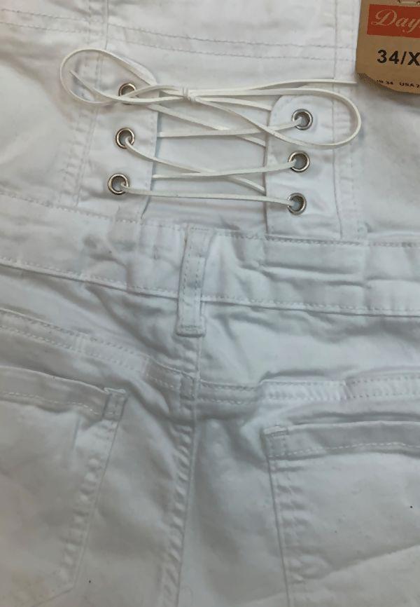 White High Waist Button Up Shorts