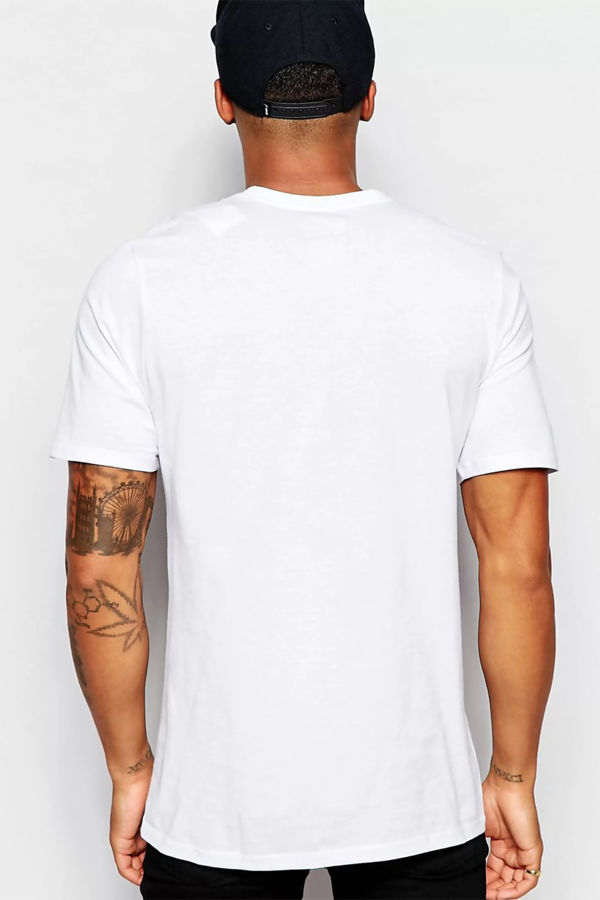 White Nike T-Shirt With Embroidered Swoosh