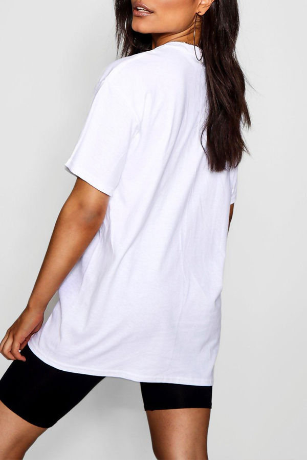 Plus Size White Nothing To Wear Slogan T-Shirt