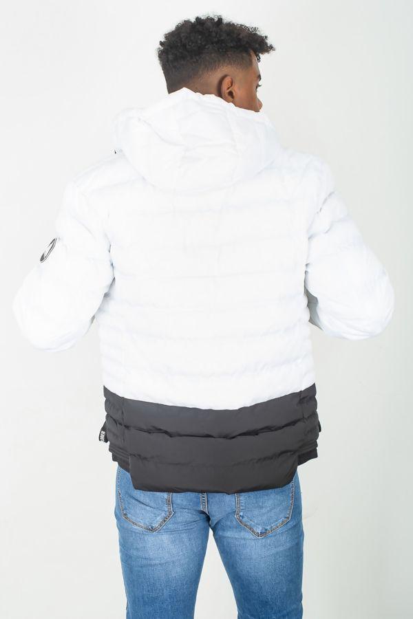 White Puffer Hood Jacket