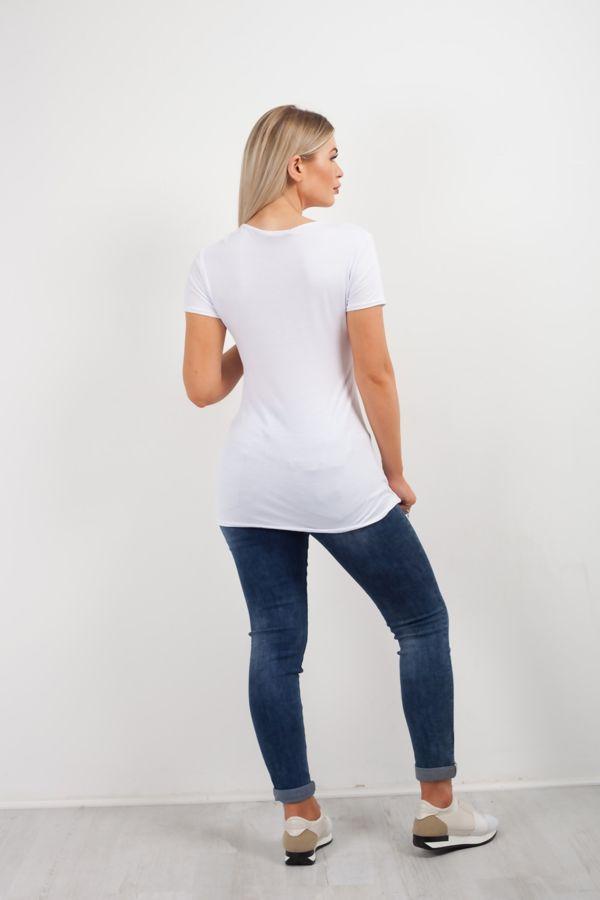 White Tropical Women T-shirt