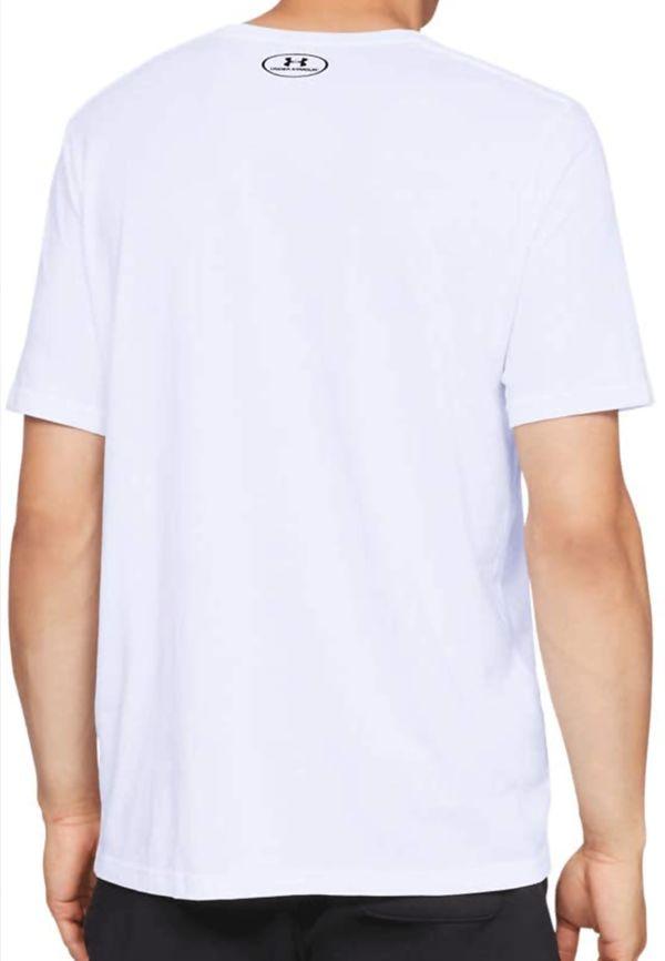 White Under Armour Graphic Logo Tee