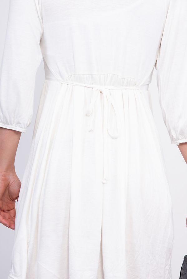 Plus Size White Peter Pan Collar Skater Dress