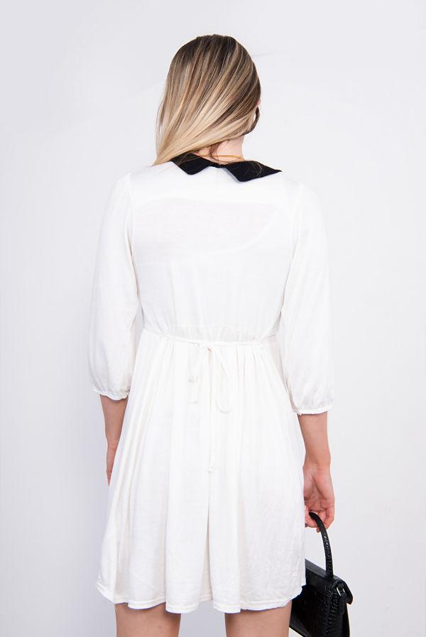 White Peter Pan Collar Skater Dress