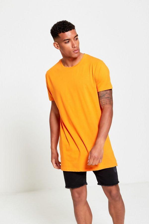 Yellow Longline Basic Block T-Shirt